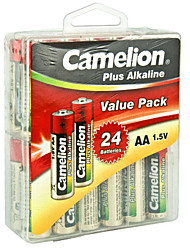 Camelion lr6-pbh24 bateria alcalina AA 1.5v 24 pacote