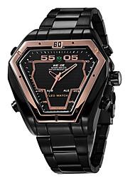 WEIDE Leisure Personality Irregular Dial Men Multi-Function Wrist Watch