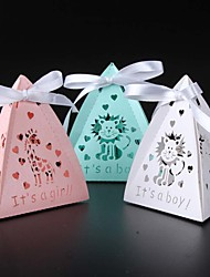 50pcs/lots Baby Shower Candy Box Gift Box Animal Party Show Favor Box Party Decoration kids birthday party decorations