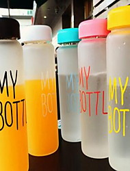 Minimalism Frosted To-Go Drinkware 450 ml Boyfriend Gift Girlfriend Gift Glass Tea Juice Glass Random Color 1pcs