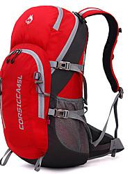 45 L Rucksack Camping & Wandern Klettern Reisen Draußen Leistung Wasserdicht Regendicht Staubdicht Stoßfest Gelb Rot Grau Dunkelblau Nylon