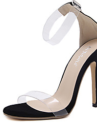 Sandals Summer Transparent Shoe Rubber Dress Stiletto Heel Buckle