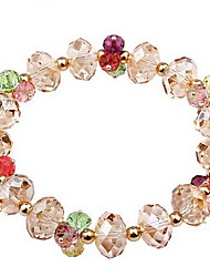 Women's Chain Bracelet Crystal Crystal Alloy Natural Fashion Round Pink Jewelry 1pc