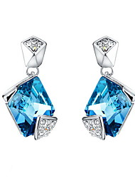 Stud Earrings Crystal Crystal Fashion Dark Blue Jewelry Daily Casual 1 pair