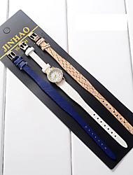 Women's Kids' Fashion Watch Wrist watch Bracelet Watch Quartz Colorful PU Band Vintage Dot Flower Charm Bangle CasualBlack White Blue