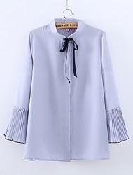 Для женщин На каждый день Кинсеаньера (бал для девочек) 16-летие Школа Свидание Лето Блуза Рубашечный воротник,Очаровательный Сплошной