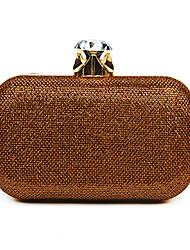 L.west Women Elegant High-grade Luxury Diamonds Flashy Fabrics Evening Bag
