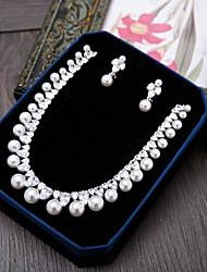 Kubikzirkonia Zirkon Silber 1 Halskette 1 Paar Ohrringe Für Hochzeit Party Besondere Anlässe Alltag Normal 1 Set Hochzeitsgeschenke