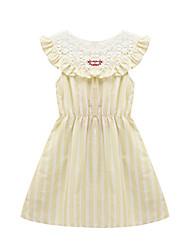 Girl's Beach Striped Dress,Cotton Summer Sleeveless