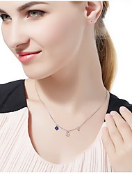 Pendant Necklaces Sterling Silver Single Strand Basic Silver Jewelry Daily Casual 1pc