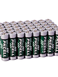 Pkcell R6P AA Carbon Zinc Dry Battery 1.5V 60 Pack Super Heavey Duty