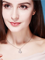 Pendant Necklaces Crystal Crystal Oval Basic Dangling Style Fashion Dark Blue Jewelry Daily Casual 1pc