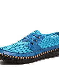 2017 New Men Flats Non-slip Wear Loafers Men Shoes Breathable Mesh Fabric Casual Shoes Simplicity Joker