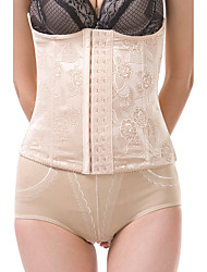 Maternity Postpartum Slimming Women's Sexy Jacquard Underwear Shaping Corset Girdle Elasticity Hook Belt Waist Nylon Beige