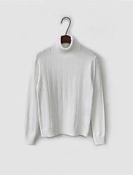 koreanische Version des neuen Winter Wild Volltonfarbe hochgeschlossenen langärmeligen gestreiften Pullover warmen Pullover grundiert