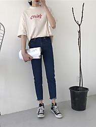 Sign Korea retro classic dark blue jeans nine points