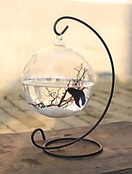 Miniaquarium Verzierungen Glas Schwarz Weiss