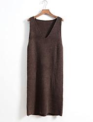 Weste-Rockband Kleid im Herbst und Winter Kleid lange Pullover Wollrock Herbst und Herbst lose Pullover Kleid gestrickt