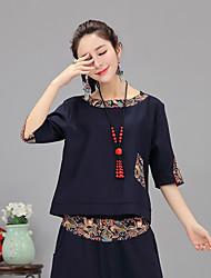registe blusas primavera nacionais vento t-shirt de mangas compridas grandes estaleiros costura solta camisa de algodão retro literária
