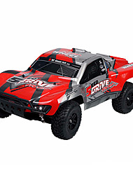 HUANQI 727 1 10 Scale 27Hz 4CH 4WD Electric Racing Car -  RED