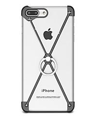 Pour Avec Support Anneau de Maintien Coque Antichoc Coque Couleur Pleine Dur Aluminium pour AppleiPhone 7 Plus iPhone 7 iPhone 6s Plus/6
