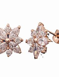 Drop Earrings AAA Cubic Zirconia Zircon Cubic Zirconia Alloy Fashion White Jewelry Daily Casual 1 pair