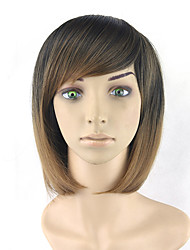 Bob Straight cosplay Lovely Wigs Natural Heat Resistant Black Blonde Ombre Color Synthetic Hair Wigs