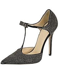 Heels Spring Summer Fall Club Shoes Gladiator Fleece Glitter Office & Career Party & Evening Dress Casual Stiletto Heel Rhinestone Bowknot