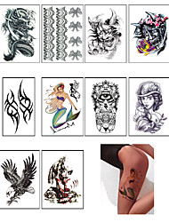 10PC Temporary Tattoo Sleeve Designs Full Arm Waterproof Tattoos For Cool Men Women Transferable Tattoos Stickers On The Body Art