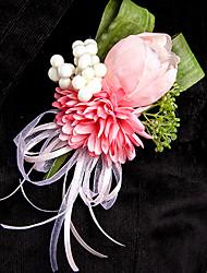 Fleurs de mariage Rond Roses Boutonnières Mariage La Fête / soirée Polyester Satin Soie Organza
