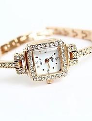 Bracelet Watch Quartz Alloy Rose Gold Plated Band Gold