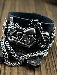 Armband-Uhr Quartz Leder Band Schwarz