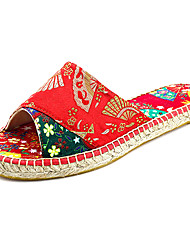 35-40 New A Little Cool China Chinese Embroidery RED/Green/Purple WOMEN Espadrilles Embroidered Shoes Novelty