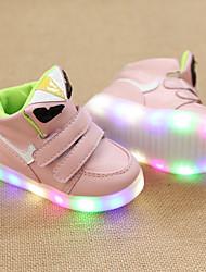 Дети мальчиков кроссовки девушки свет водить вверх ботинки первые ходоки легкие подошвах кожа на открытом воздухе спортивная случайные