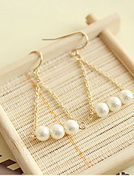 Drop Earrings Earrings Set Imitation Pearl Pearl Imitation Pearl Alloy Simple Style White Jewelry Daily Casual 1 pair