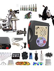 Complete Tattoo Kit S023G2A4A2 2 Machines Liner & Shader Mini Power Supply Ink Cups