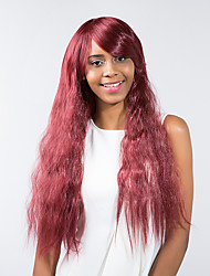 New pattern Wine red  Attractive  Natural Long hair Synthetic Wig