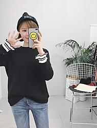 Sign thread horn sleeve sweater plus thick velvet