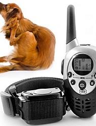 Gatos Cães Coleiras de Adestramento para Cães Retratável Electrónico/Elétrico Treinamento Vibração Controle Remoto Sólido Preto Plástico