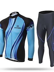 XINTOWN Calça com Camisa para Ciclismo Homens Manga Longa Moto Camiseta com Fecho Camisa/Roupas Para Esporte Calças Moletom Blusas