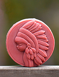 Forest Girl Soap Mold DIY Silicone Soap Mold Handmade Soap Salt Carved DIY Silicone Food Grade Silicone Mold