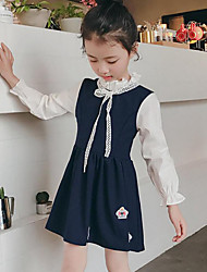Girl's Patchwork Dress,Others Spring Fall Long Sleeve