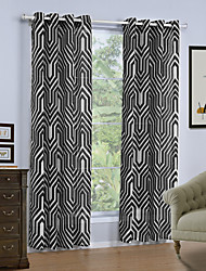 One Panel Curtain Modern Geometic Living Room Linen/Polyester Blend Curtains Drapes Home Decoration For Window