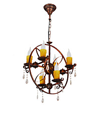 Chandelier ,  Rustic/Lodge Vintage Retro Country Globe Painting Feature for Mini Style Designers Metal Living Room Bedroom Dining Room