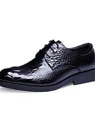 Westland's Men's Oxfords/New/Fashion/Cow Leather/Crocodile Pattern/Casual/Black/Burgundy