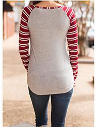 comércio exterior na Europa e América desejam ebay mulheres de amazon imagem natal alces impressão de grande tamanho t-shirt listrada de