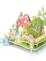 Real Plant Jigsaw Puzzles 3D Puzzles Educational Toy Building Blocks DIY Toys House Paper Rainbow Model & Building Toy