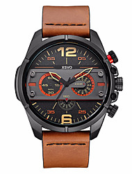 Men's Kids' Sport Watch Military Watch Dress Watch Fashion Watch Wrist watch Punk Japanese Quartz Genuine Leather BandVintage Charm