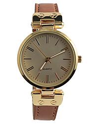 Women's Fashion Watch Quartz / PU Band Casual Brown Brand