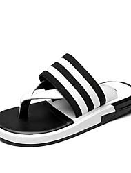 Men's Slippers & Flip-Flops Spring Summer Fall Comfort Light Soles Leather Outdoor Casual Flat Heel Walking Shoes